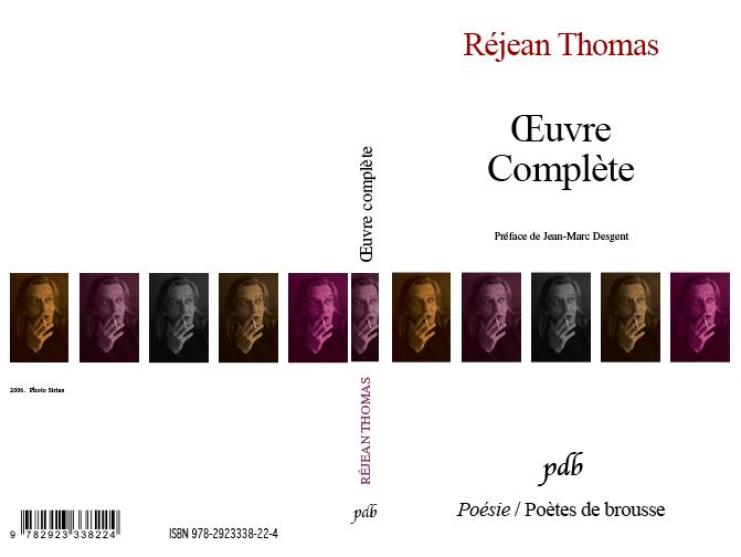 Couverture et montage de livres : Poètes de Brousse, Réjean Thomas
